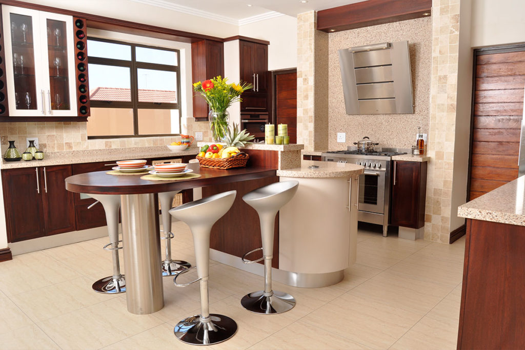 red wood kitchen design