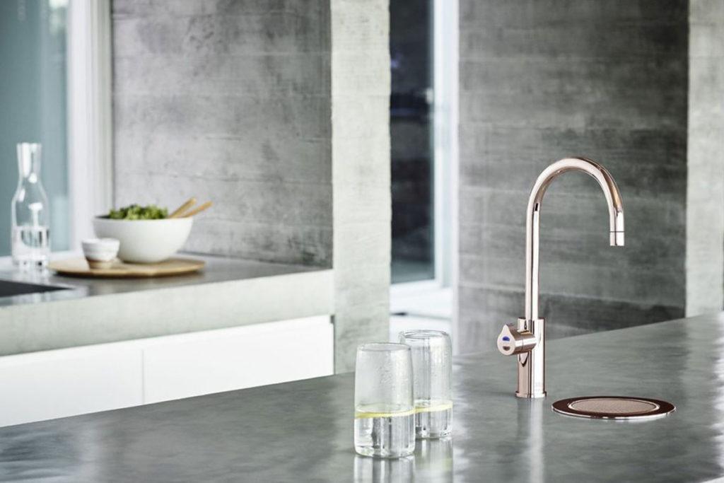 metallic taps