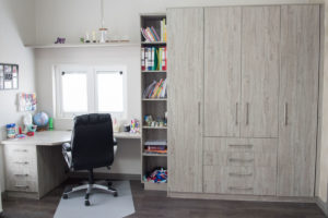 built in wardrobe in side a home office