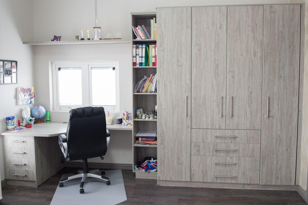 built in wardrobe in side a home office