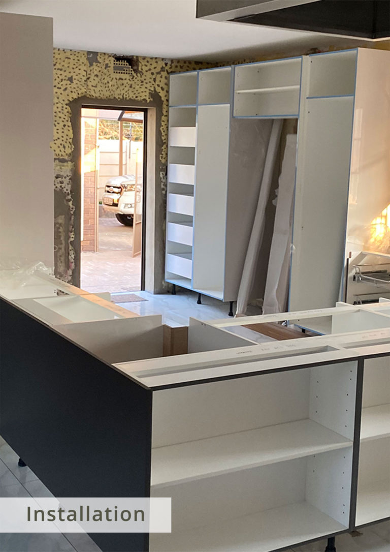 During Eurofit's team of specialists' installation redesigned and fitting of the new kitchen.
