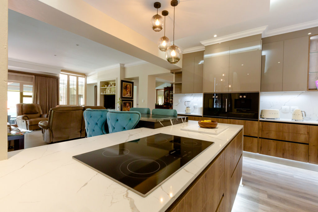 Modern luxury kitchen renovation in Featherbrooke Estate.